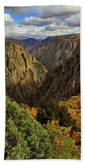 Beach Towel featuring the photograph Black Canyon Of The Gunnison - Colorful Colorado - Landscape by Jason Politte