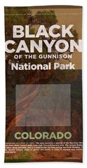 Black Canyon Of The Gunnison National Park Travel Poster Series Of National Parks Number 17 Beach Towel