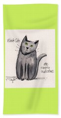 Black Cats Are Simply Awesome Beach Towel by Terry Taylor