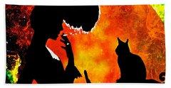 Black Cats Beach Sheet