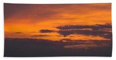 Beach Sheet featuring the photograph Black Cloud Sunset  by Don Koester