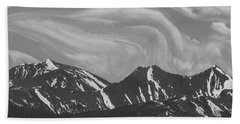 Black Day Mountain Beach Towel