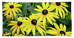 Black Eyed Susans- Fine Art Photograph By Linda Woods Beach Towel