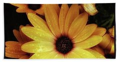 Beach Towel featuring the photograph Black Eyed Susans. Looks Like They're by Mr Photojimsf