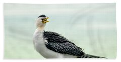 black faced Cormorant 02 Beach Sheet by Kevin Chippindall
