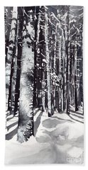 Black Forest Watercolor Beach Towel