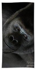 Black Gorilla Smile Beach Sheet