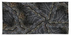 Black Granite Kaleido #1 Beach Towel by Peter J Sucy