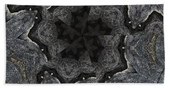 Black Granite Kaleido #2 Beach Towel by Peter J Sucy