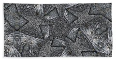 Black Granite Kaleido #4 Beach Towel