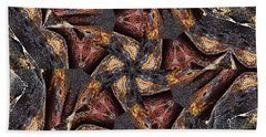 Black Granite Star Kaleido Beach Towel by Peter J Sucy