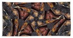 Black Granite Star Kaleido Beach Sheet