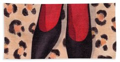 Black High Heels Beach Towel