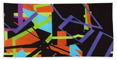 Black In Space Beach Towel