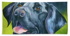 Black Lab Forever Beach Towel