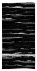 Black Lines- Art By Linda Woods Beach Towel