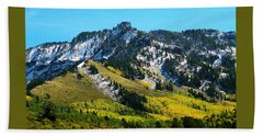 Black Mesa Rocky Peak In Autumn Beach Towel