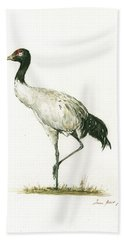 Black Necked Crane Beach Towel