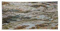 Beach Towel featuring the photograph Black Obsidian Sand And Other Textures by Sue Smith