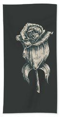Beach Towel featuring the digital art Black On Black by ReInVintaged