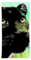 Black Panther Animal Art Beach Towel