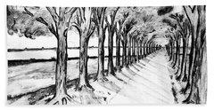 Black Promenada Beach Sheet by Ramona Matei