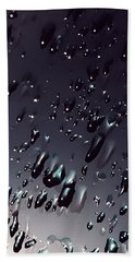 Black Rain Beach Towel
