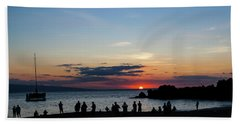 Black Rock Sunset Beach Towel