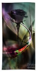 Black Rose In Color Symphony Beach Sheet