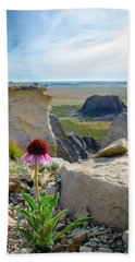 Black Sampson In The Badlands Beach Towel