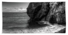Black Sand Beach Beach Towel