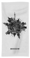 Black Skyround Art Of Moscow, Russia Beach Towel