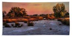 Beach Towel featuring the photograph Black Squirrel Creek Fall Scape by Ellen Heaverlo