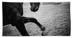 Black Stallion - Poster Beach Towel