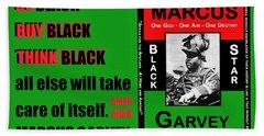 Black Star Garvey Beach Towel