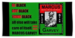 Black Star Garvey Beach Towel