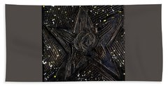 Black Star Beach Towel