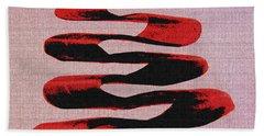 Black Walnut Ink Abstract #10 Beach Sheet