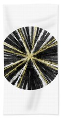 Black, White And Gold Ball- Art By Linda Woods Beach Towel