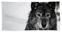 Black Wolf I Beach Towel