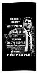 Black Yellow Red Ali Beach Sheet