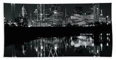 Blackest Night In Big D Beach Towel by Frozen in Time Fine Art Photography