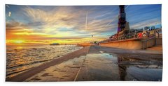 Beach Sheet featuring the photograph Blackpool Sunset by Yhun Suarez