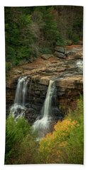 Beach Towel featuring the photograph Blackwater Falls by David Waldrop