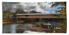 Blair Covered Bridge Beach Towel by Nancy Griswold