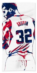Blake Griffin Los Angeles Clippers Pixel Art 4 Beach Towel