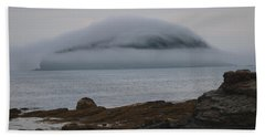 Blanket Of Fog Beach Sheet by Living Color Photography Lorraine Lynch