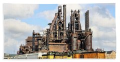 Blast Furnaces Of South Bethlehem Beach Towel