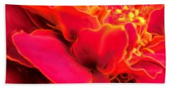 Blazing Pink Marigold Beach Towel