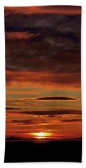 Beach Towel featuring the photograph Blazing Sunset by Bryan Carter